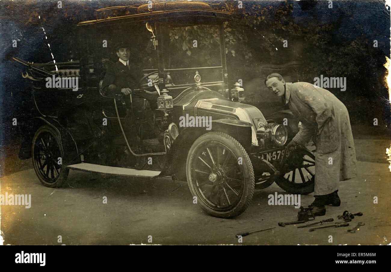 Maudslay Vintage Car, Britain. Manchester registration. 1900s ...