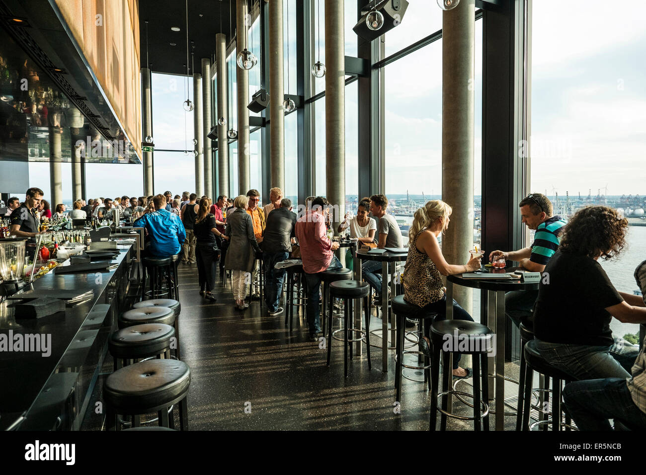 Stock photo hamburg germany riverside new - Bar 20up At The Empire Riverside Hotel At The Reeperbahn Hamburg Hamburg Germany