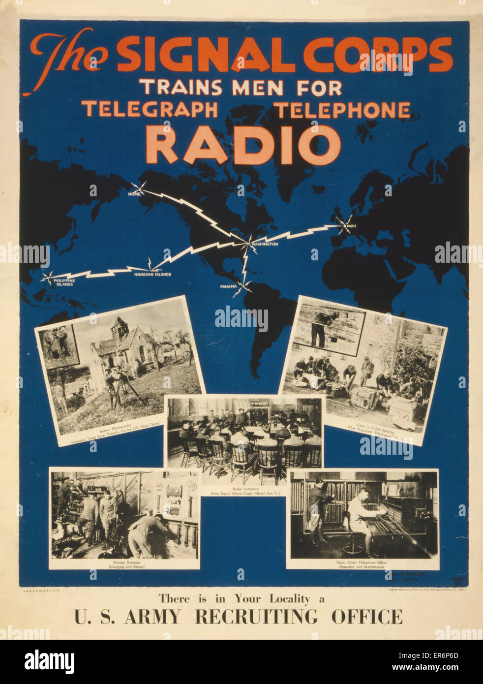 The Signal Corps Trains Men For Telegraph Telephone Radio There - Us army recruiting map