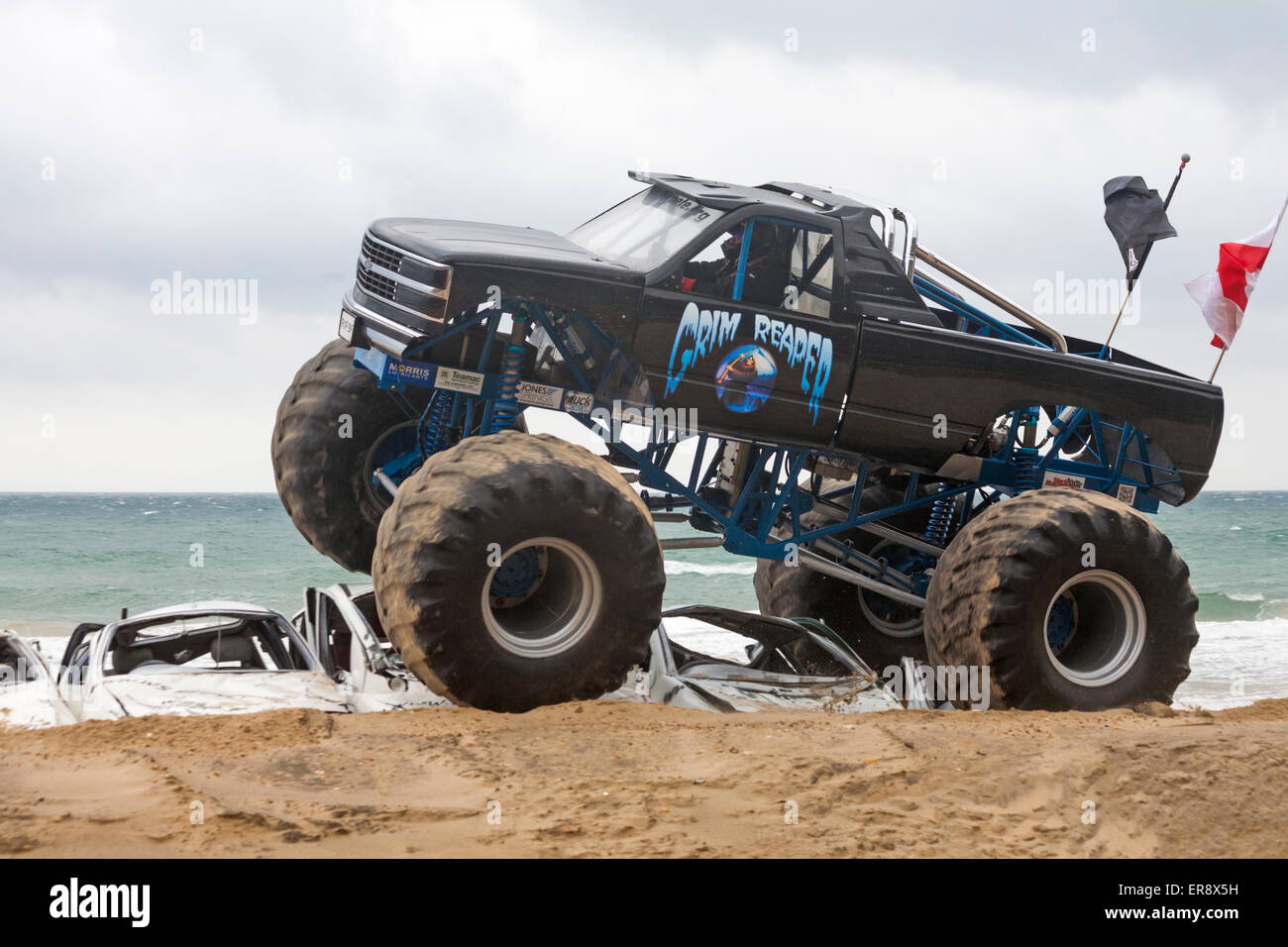 Grim Reaper Monster Truck Crushes Cars On The First Day Of The