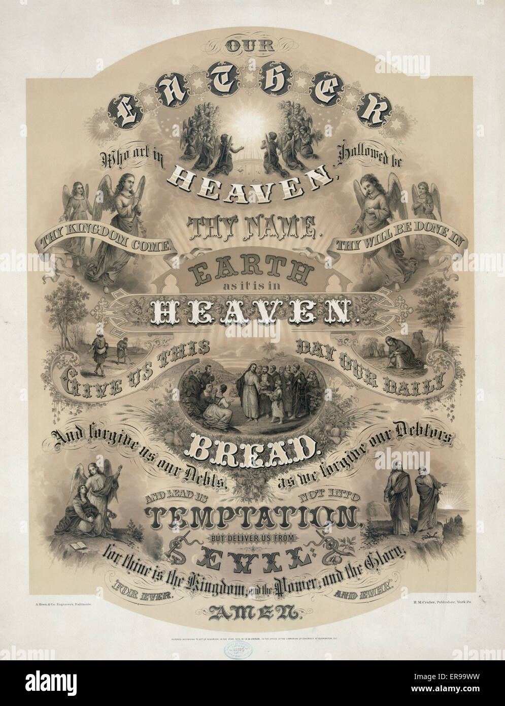 our father who art in heaven the lord u0027s prayer ornately