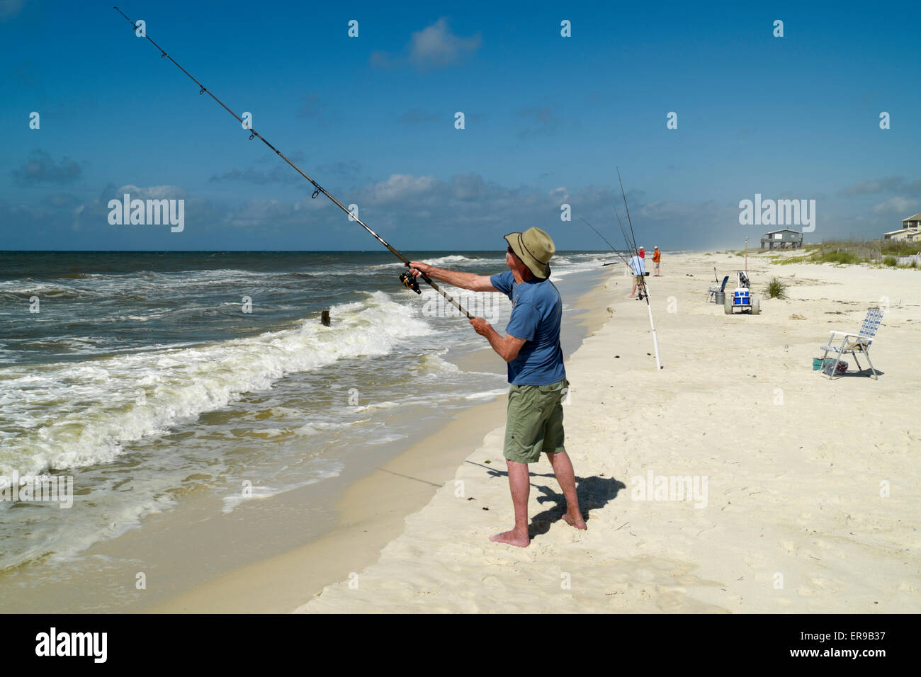 surf fishing in the gulf of mexico near gulf shores