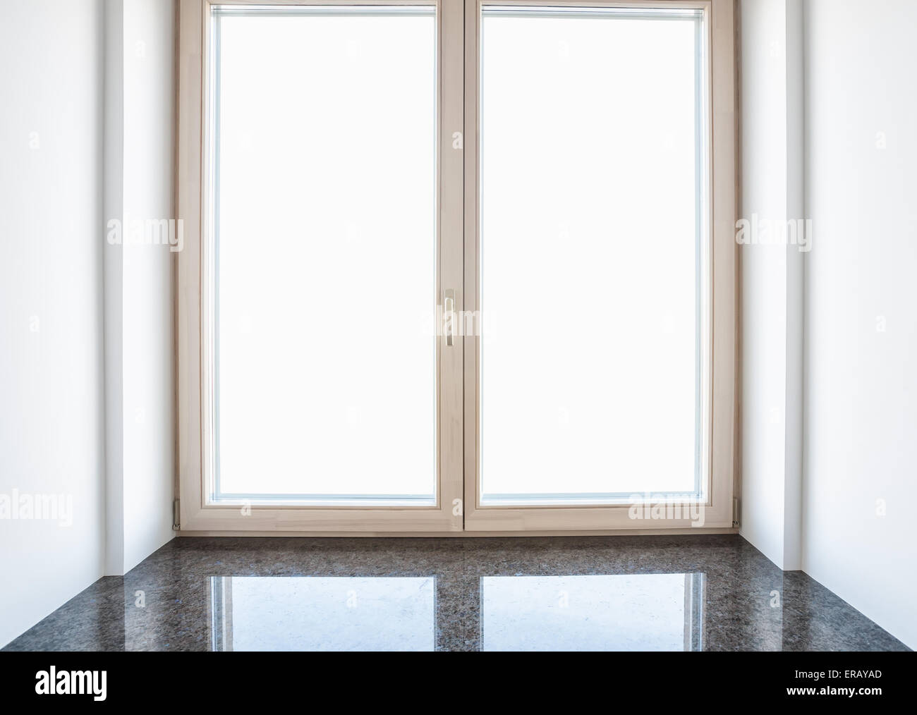 Modern residential window with marble windowsill for Residential window design