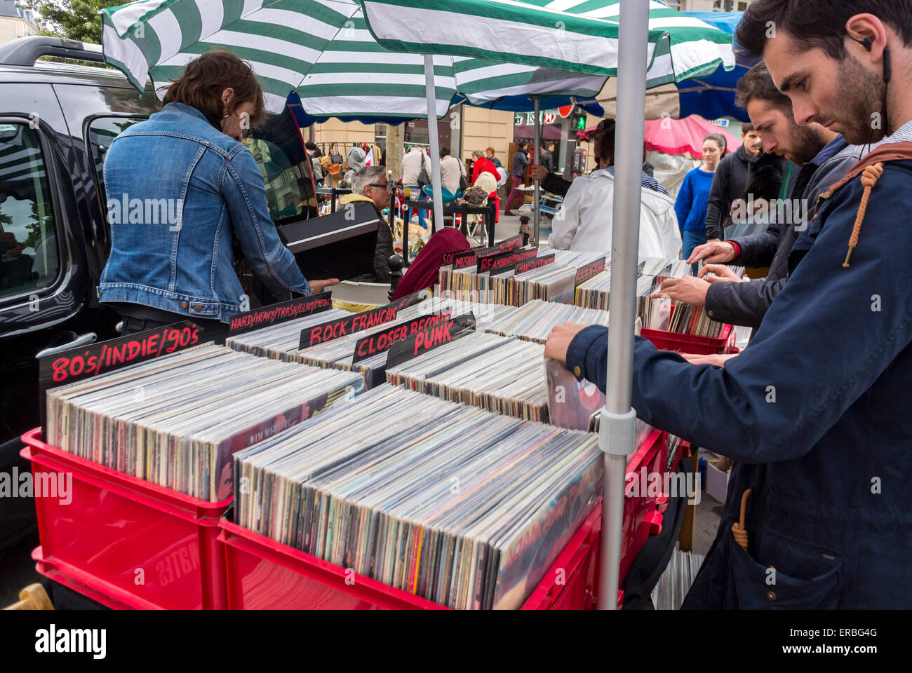 Paris France People Shopping French Garage Sale