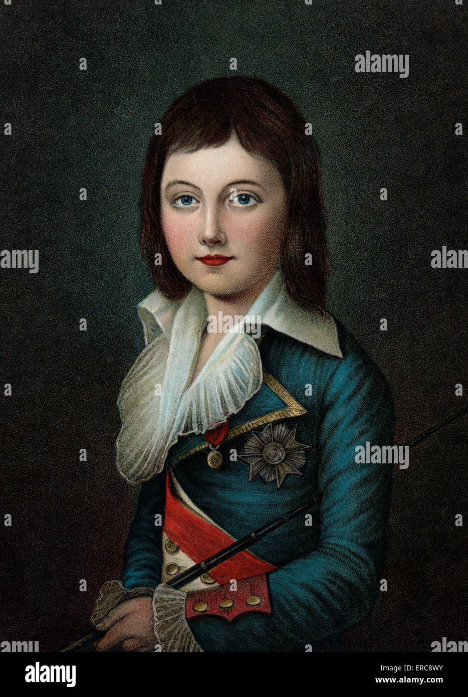 Louis xvii chair - 1792 Portrait Of Louis Xvii Young Boy Looking At Camera Died At Age 10 Son Of