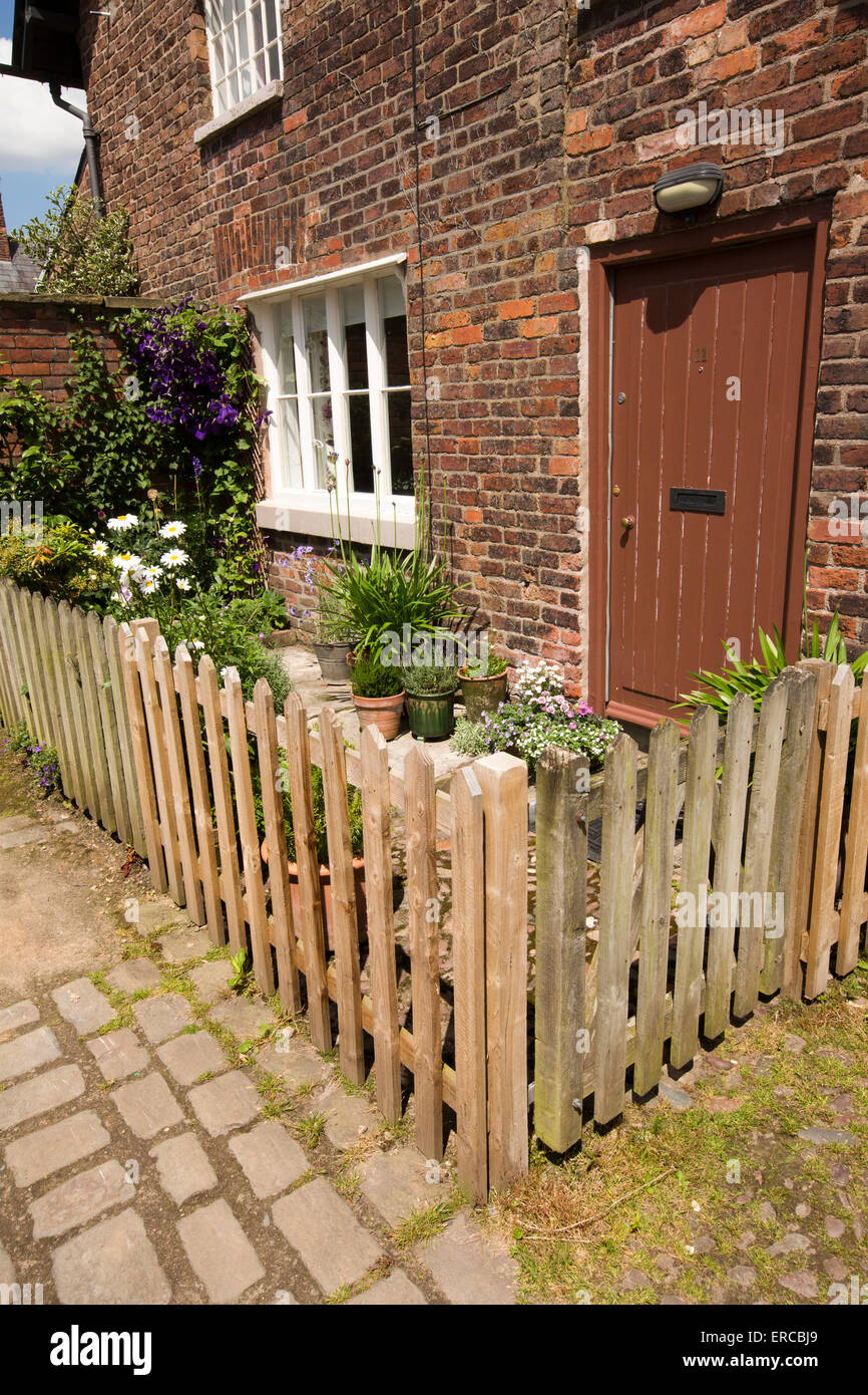 UK England Cheshire Styal Farm Fold small front garden with