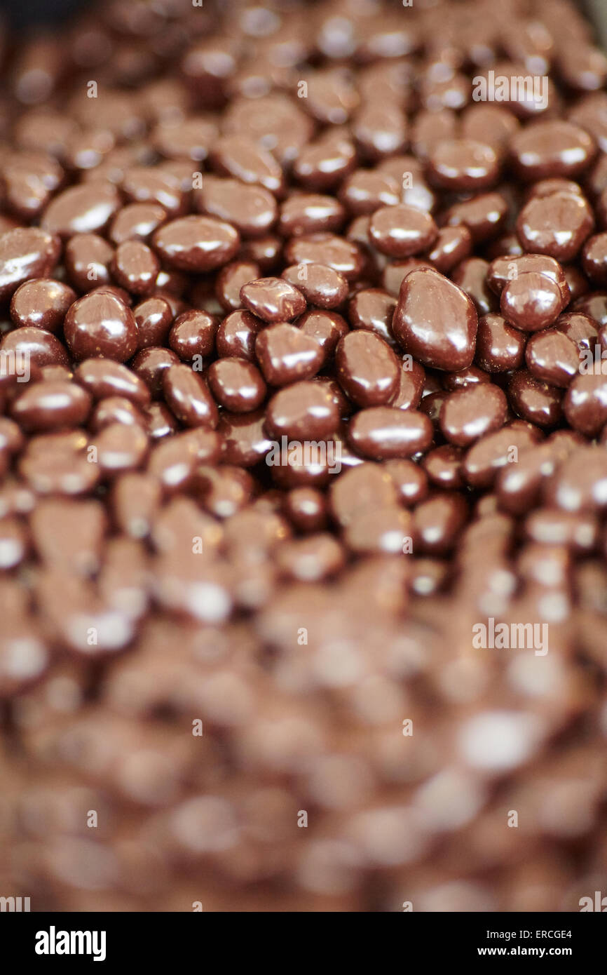 Market stall food displayed chocolate covered peanuts Stock Photo ...