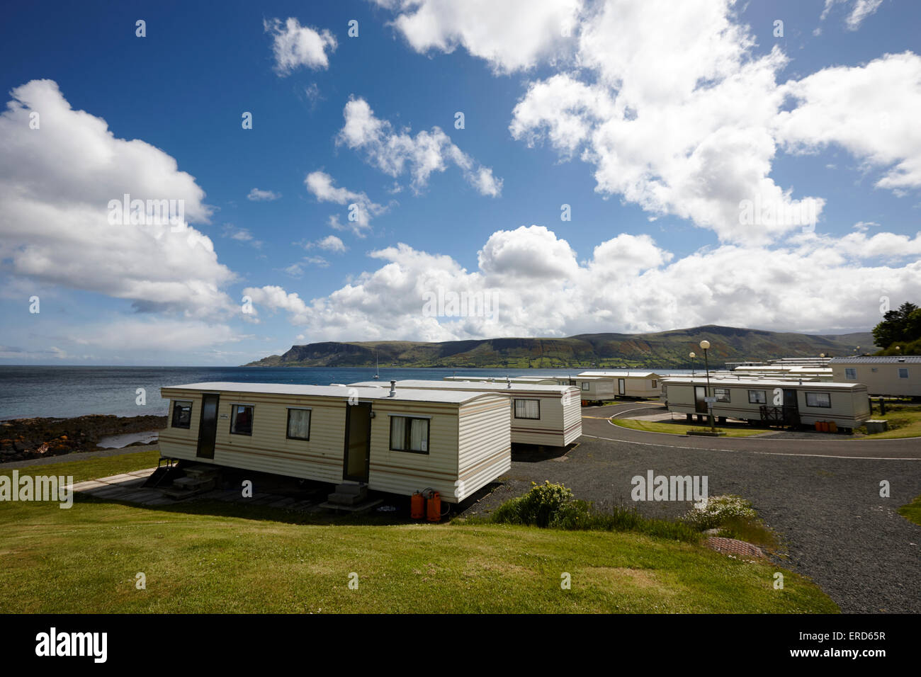 Mobile Static Caravans On Caravan Holiday Park Cushendall County