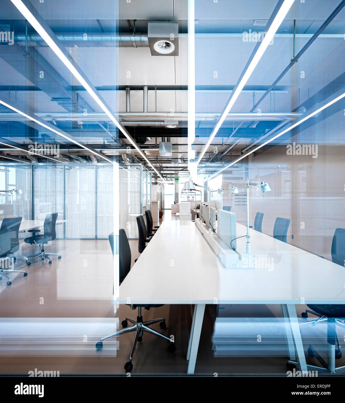 Office Interior With Glass Partitioning Novartis Campus Virchow 6, Basel,  Switzerland Architect