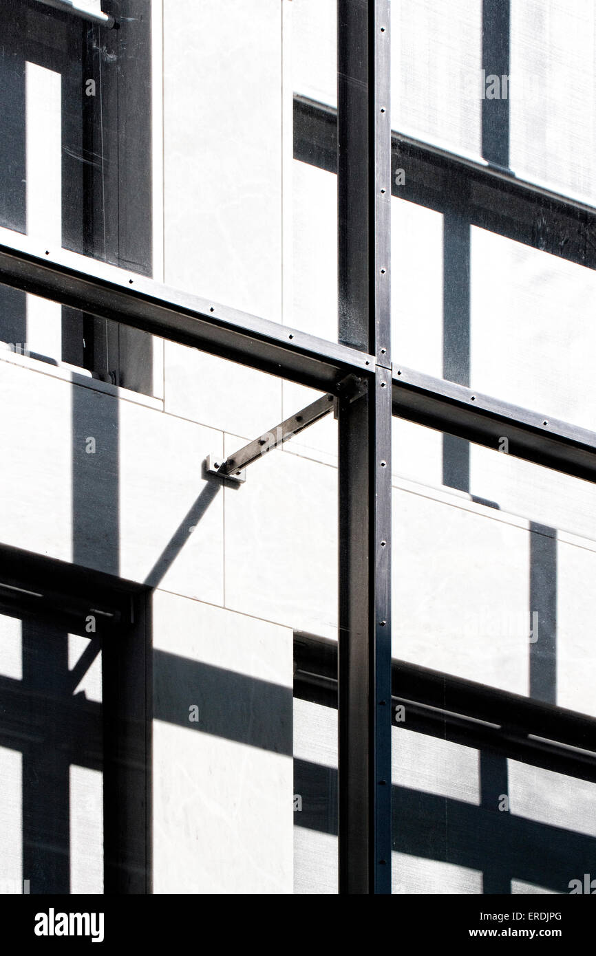 Detail Of Loadbearing Metal Frame Novartis Campus Virchow 6, Basel,  Switzerland