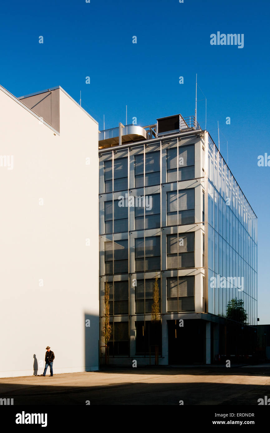 Oblique Elevation Across Campus Square Novartis Campus Virchow 6, Basel,  Switzerland Architect: Alvaro
