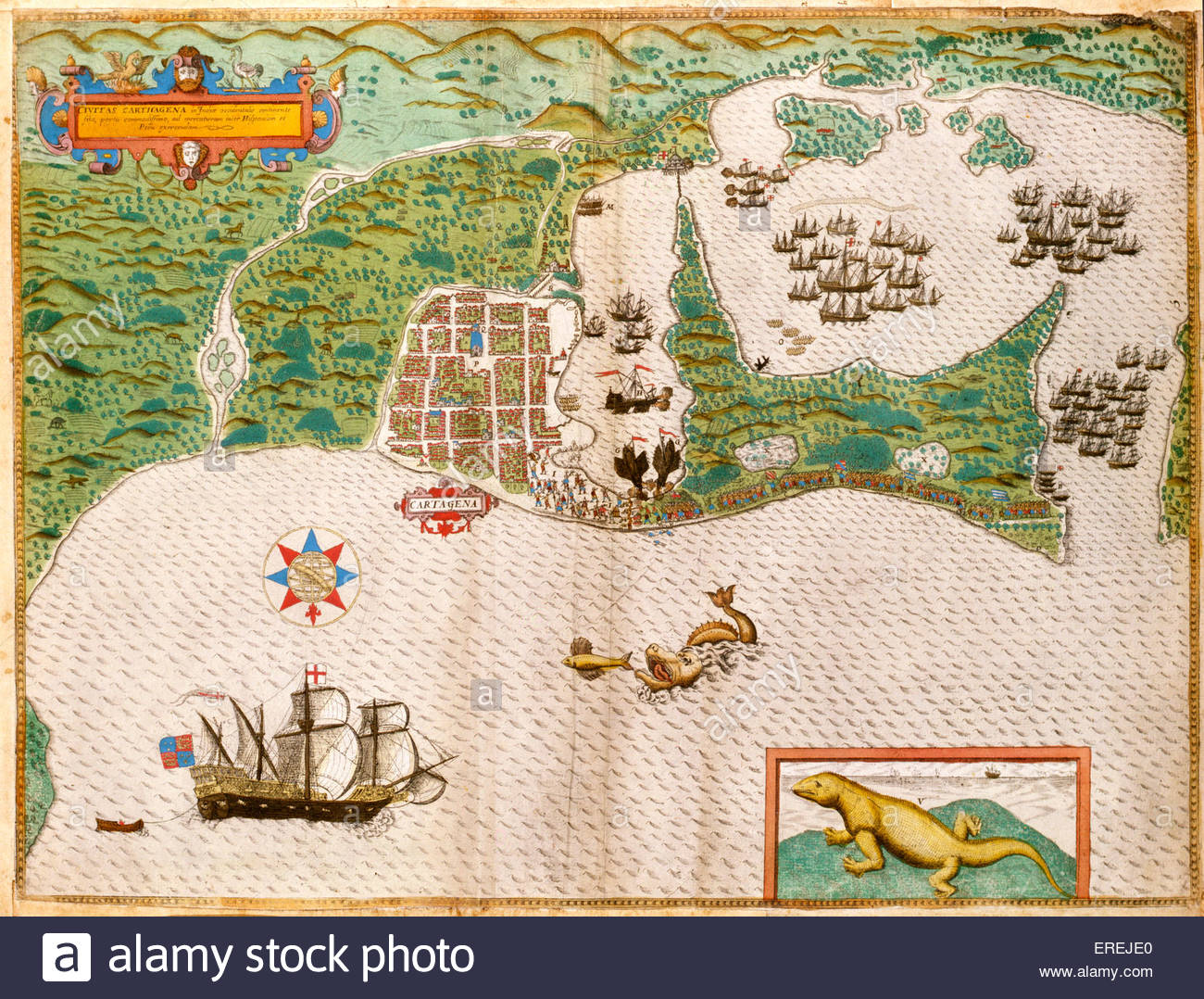 Attack On Cartagena One Of The Largest Naval Campaigns In - Cartagena de indias map