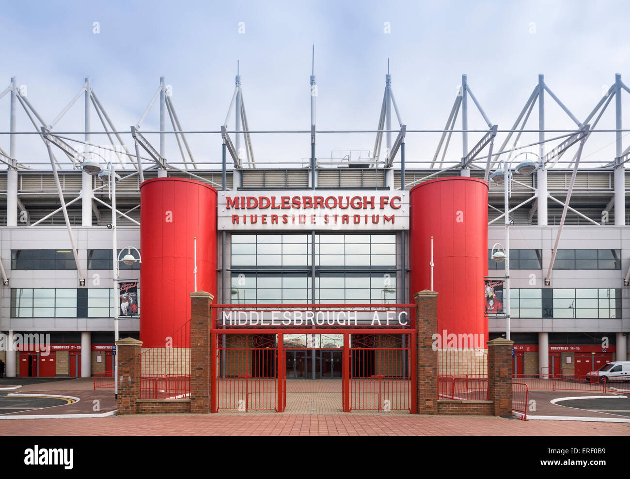 Ayresome Park Gates At The Riverside Stadium Middlesbrough Home To