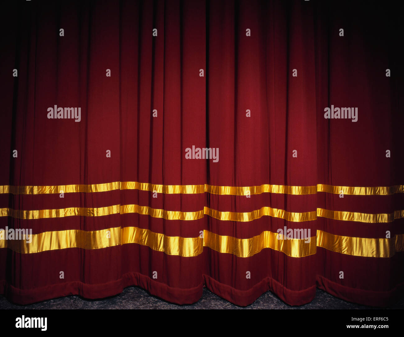 Real open stage curtains -  Curtains Red Velvet With Gold Stage Curtains Closed Stock Photo