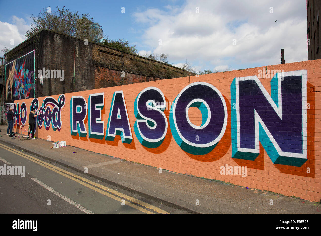 Art For Non Artists Street Art In Shoreditch London Uk Non Good Reason A Graffiti