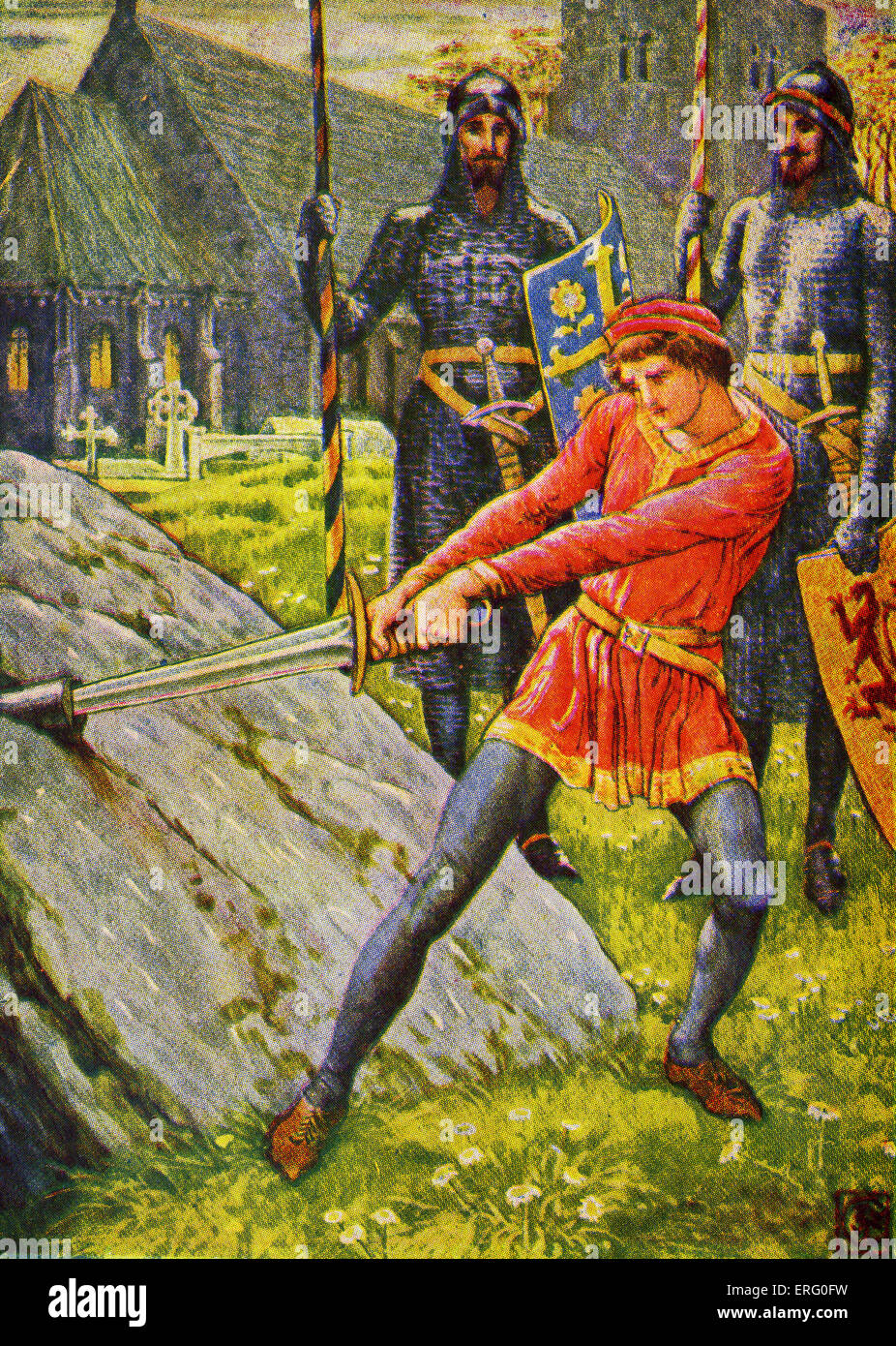 the legend of king arthur book stock photo royalty free image