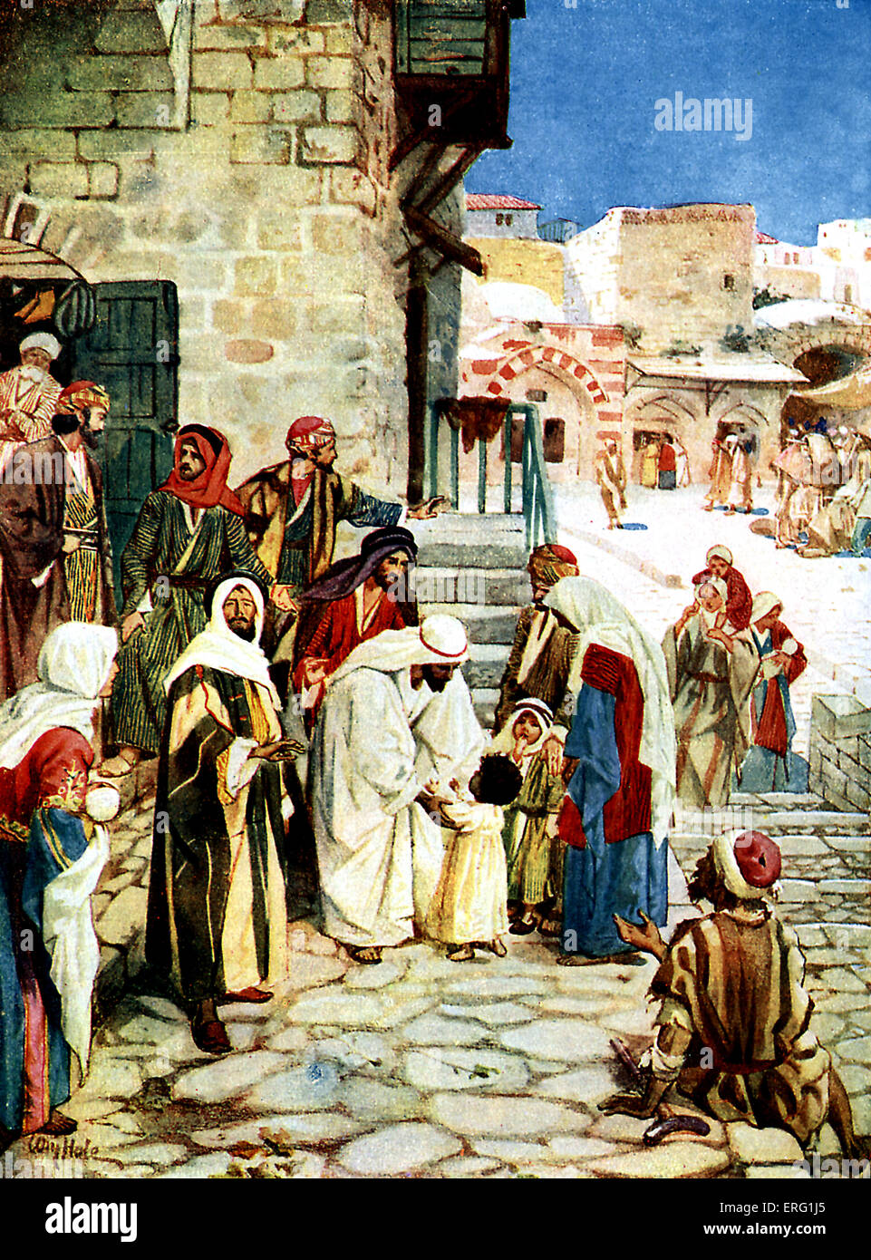 jesus and the little children contradicting his disciples rebukes