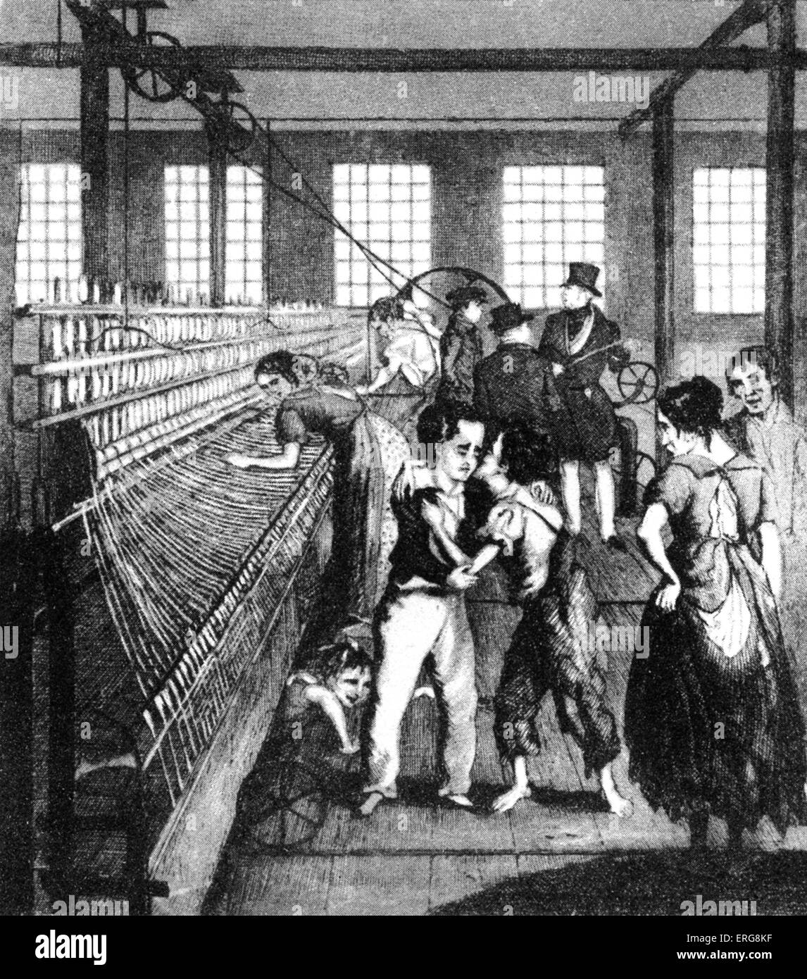 Children At Work In A Factory 1840 Stock Photo 83336611