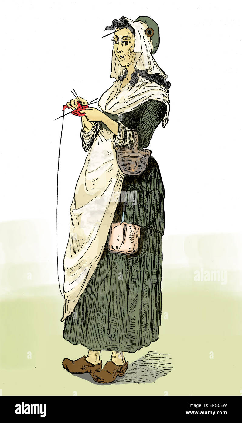 tricoteuse or knitting w during the french revolution it stock photo tricoteuse or knitting w during the french revolution it was common for such women to sit and knit while attending a