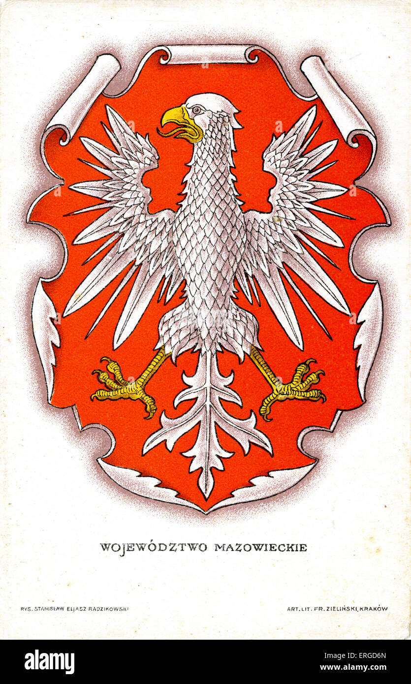 polish national emblem white eagle bass relief with 966 creation