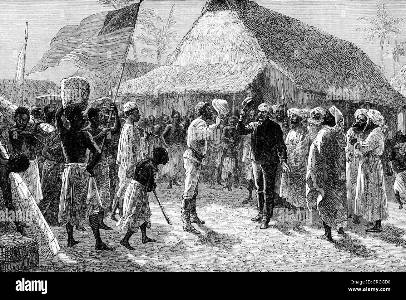 Beautiful Stanley Finding Livingstone In Village Of Ujiji On The Shore Of Lake  Tanganyika Zanzibar   Dr  Dr Livingstone I Presume Movie
