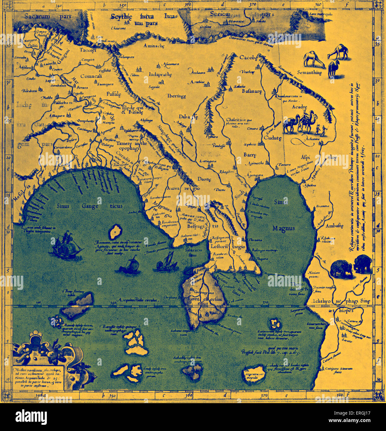 Map of Asia East of the Ganges in Ptolemy s Geographia