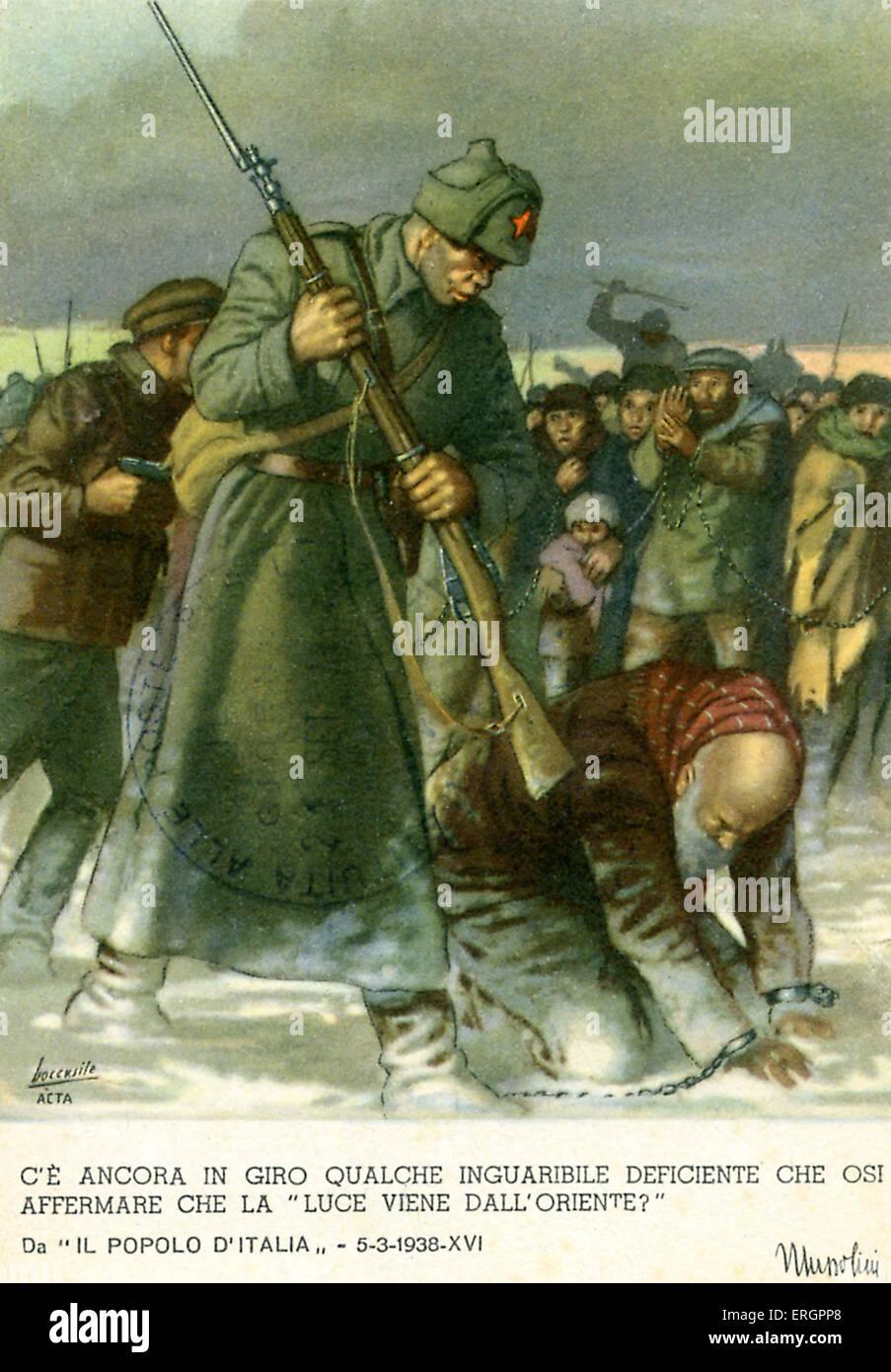 WW2 - Italian fascist propaganda, Eastern Front. ' Are ...