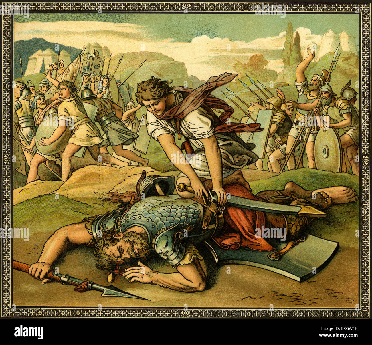 beowulf david and goliath Free essays & term papers - old testament allusions in beowulf, english.