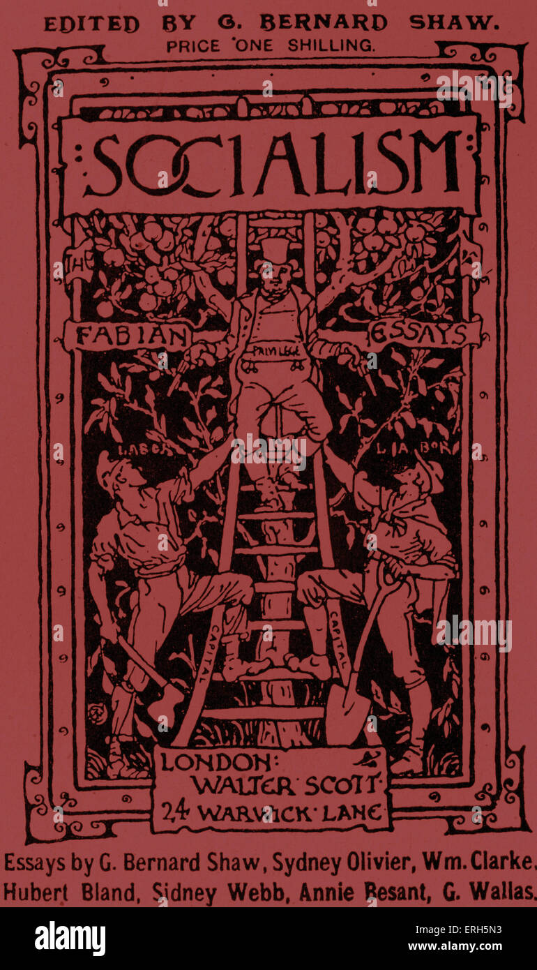 fabian essays cover for a collection of essays on socialism by fabian essays cover for a collection of essays on socialism by the fabian society s members george bernard shaw sydney