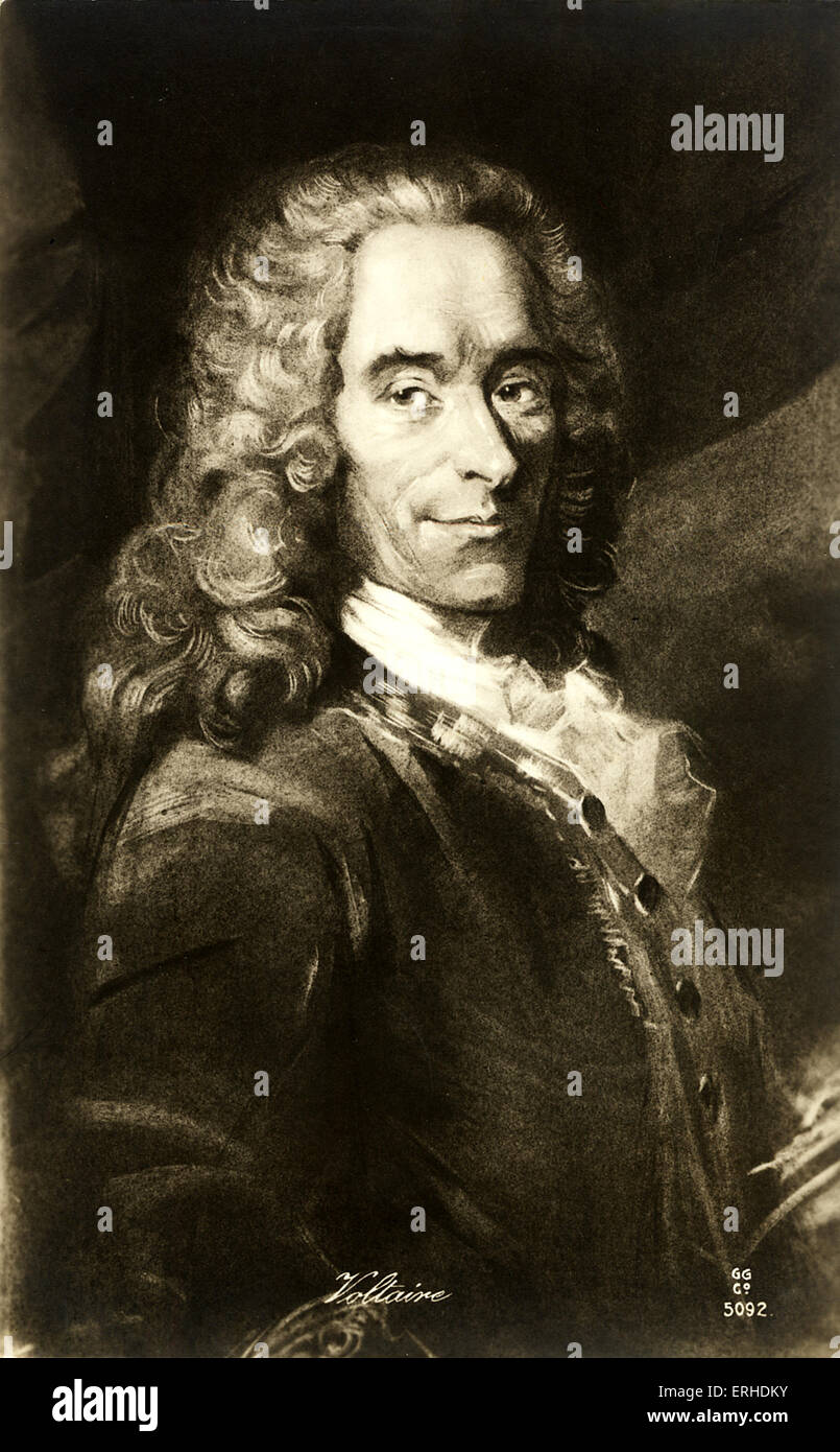 francois marie arouet voltaire french author In 1694, françois-marie arouet, his father being a successful parisian lawyer,  was born  and poet, voltaire was the preeminent eighteenth century western  writer  {{2}} unfortunately, in early eighteenth century france, one did not want  to get.