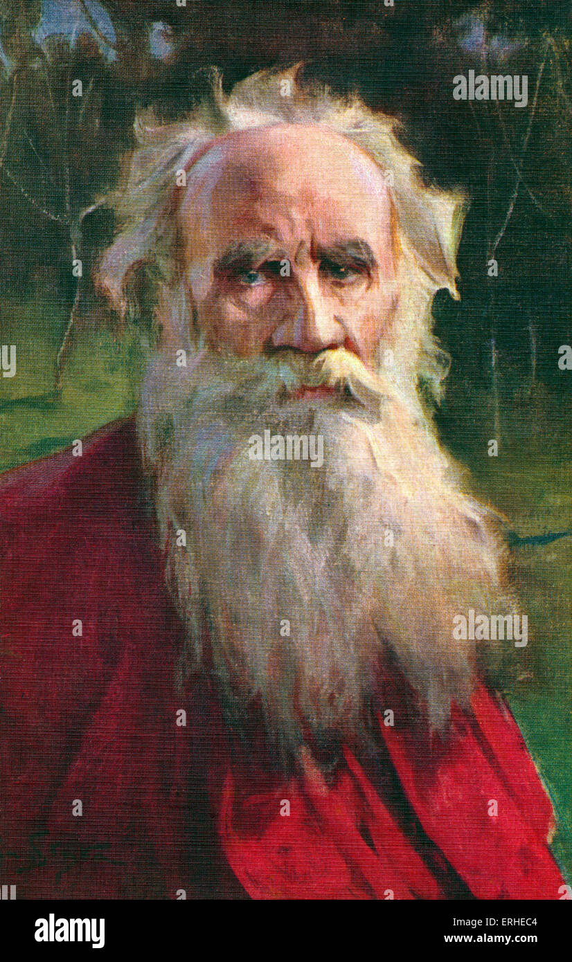Leo tolstoy portrait of the russian writer aesthetic philosopher moralist and mystic 1828 1910