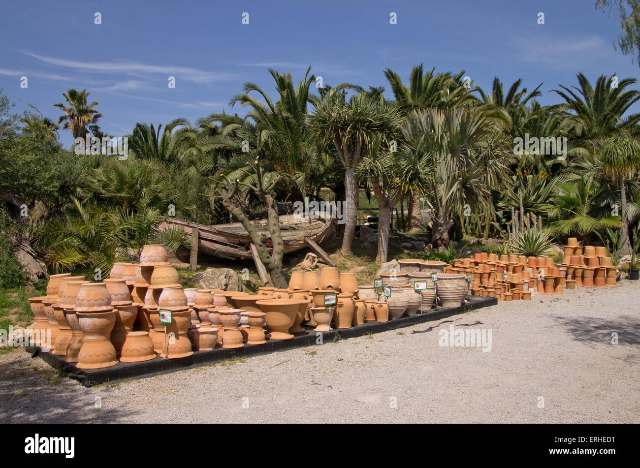 Garden Pots For Sale Part - 45: Stock Photo - Terracotta Pots On Sale In A Garden Centre In Majorca