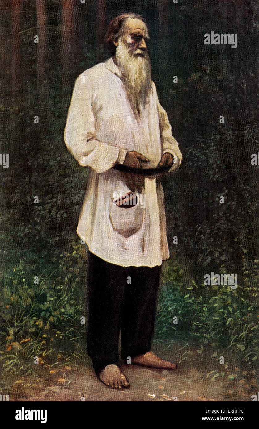 Leo tolstoy portrait of the russian writer aesthetic philosopher moralist and mystic