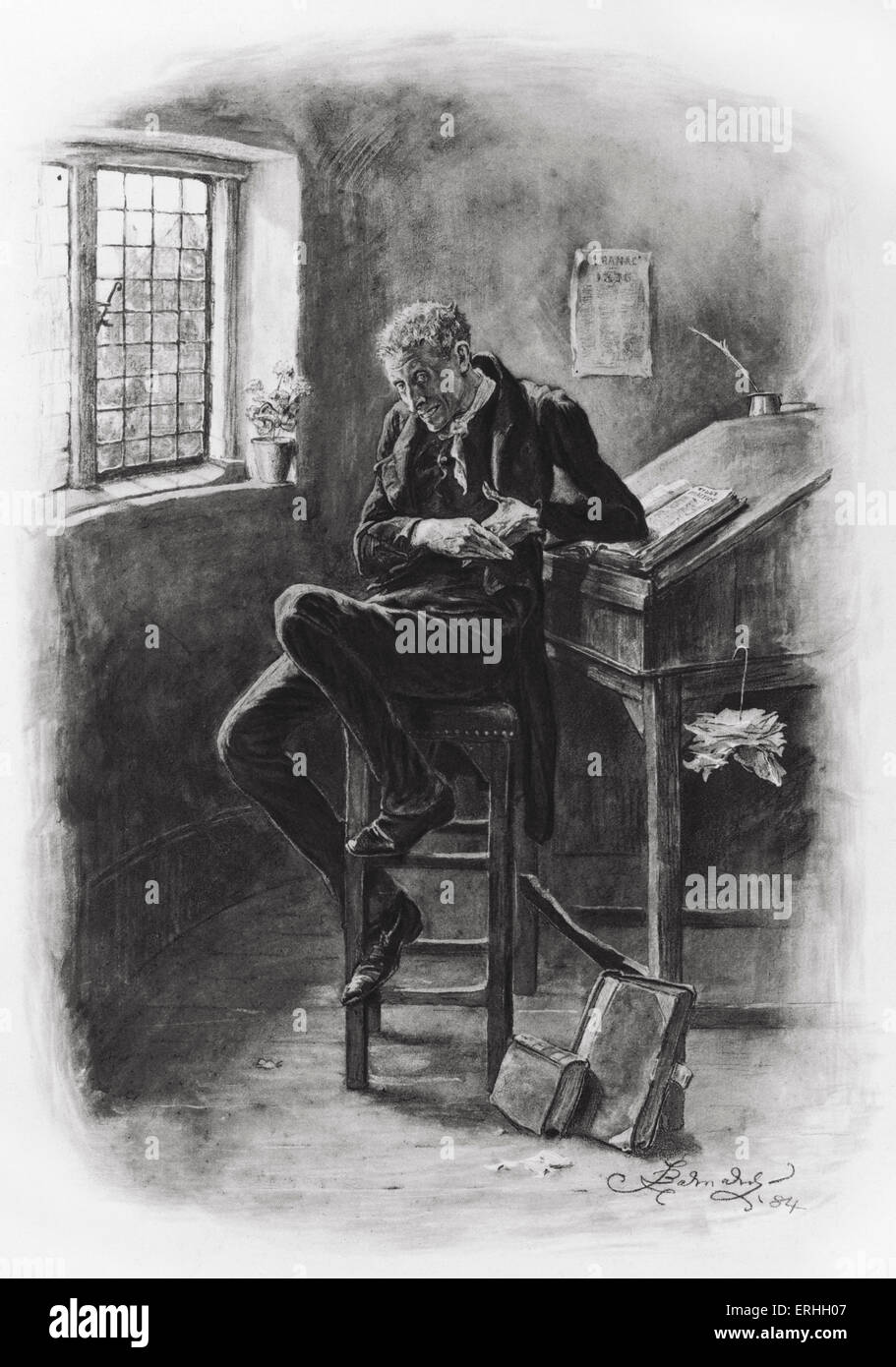 charles dickens s david copperfield portrait of uriah heep charles dickens s david copperfield portrait of uriah heep illustration by frederick barnard english illustrator