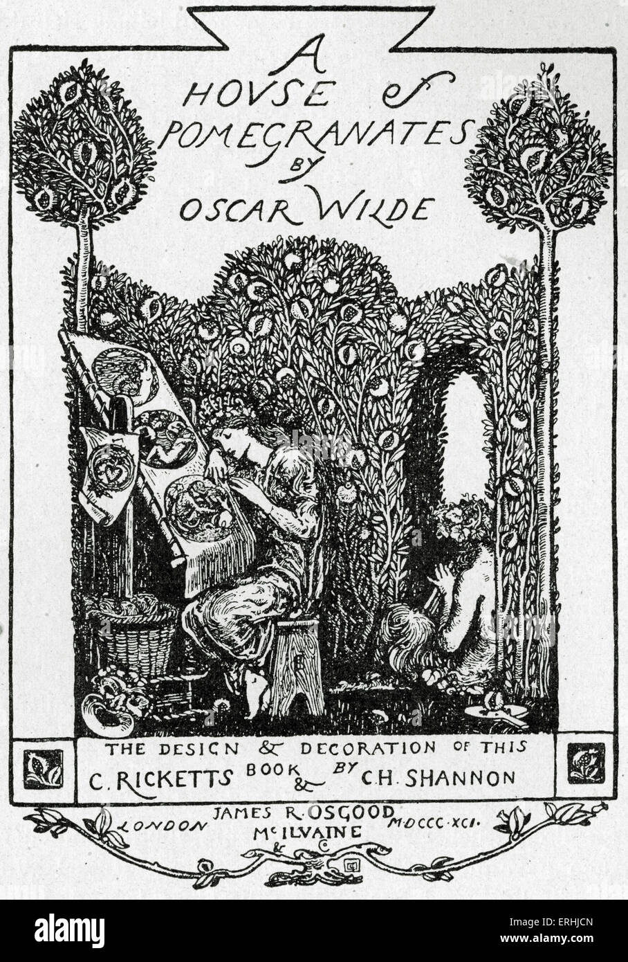 Oscar Wilde Cover Of The Anglo Irish Playwright Novelist And Poet S Collection Of Fairy Tales A House Of Pomegranates