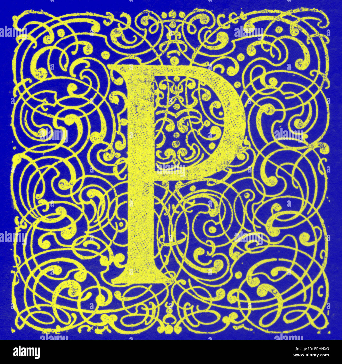 Illuminated Letter P Stock Photo Royalty Free Image