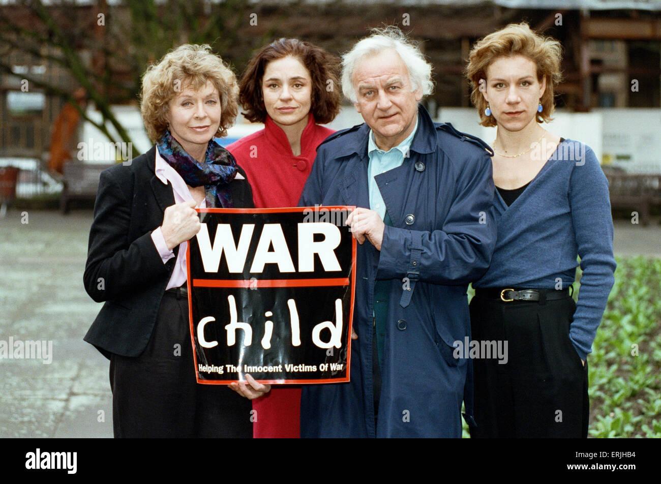 Supporters of the War Child Charity John and Juliet Stevenson. War ...