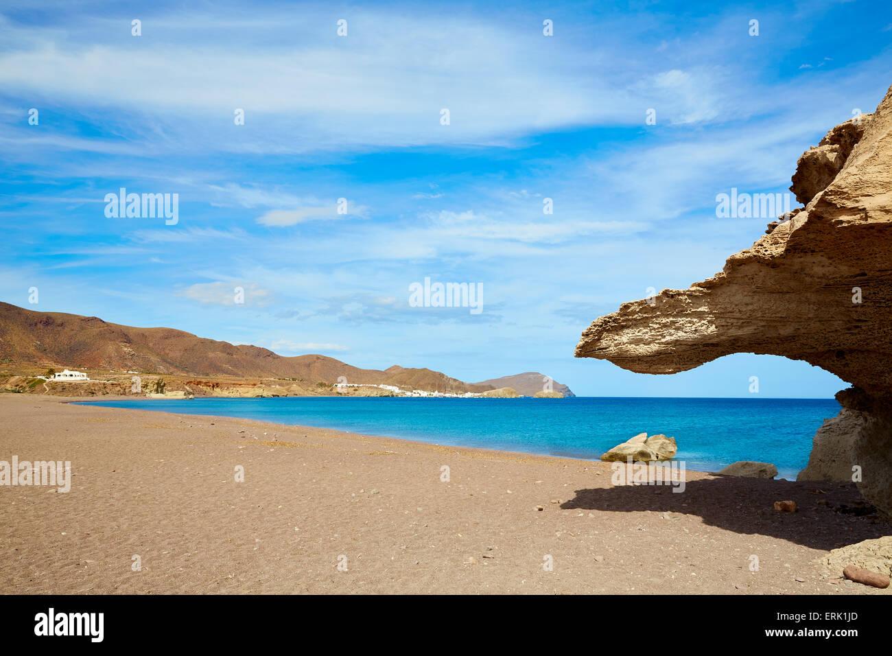 Almeria in cabo de gata playa del arco arch beach at spain for Cabo de gata spain