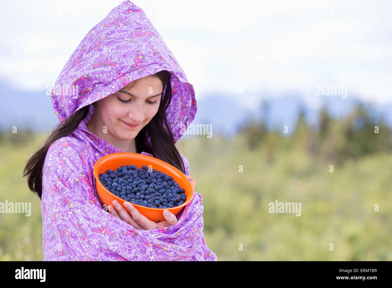 Tween Inupiat Eskimo Girl In Traditional Native Kuspuk Dress ...