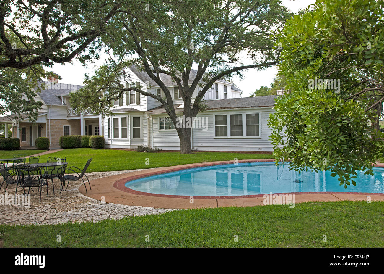 The swimming pool at the texas white house ranch home of lyndon b the swimming pool at the texas white house ranch home of lyndon b johnson and lady bird johnson publicscrutiny Image collections