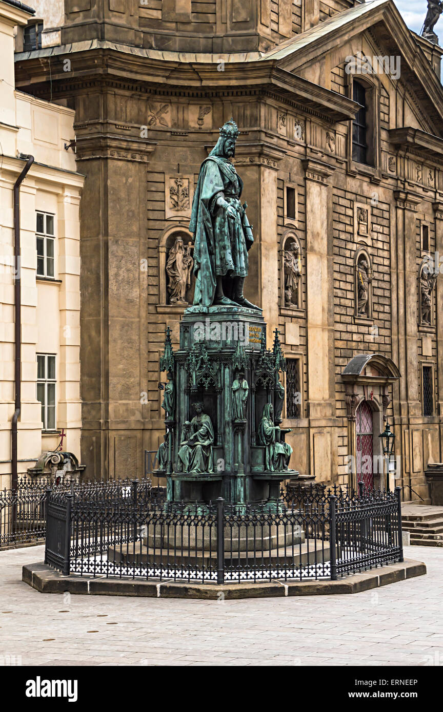 Statue of king charles iv karolo quarto near charles for Where is prague near
