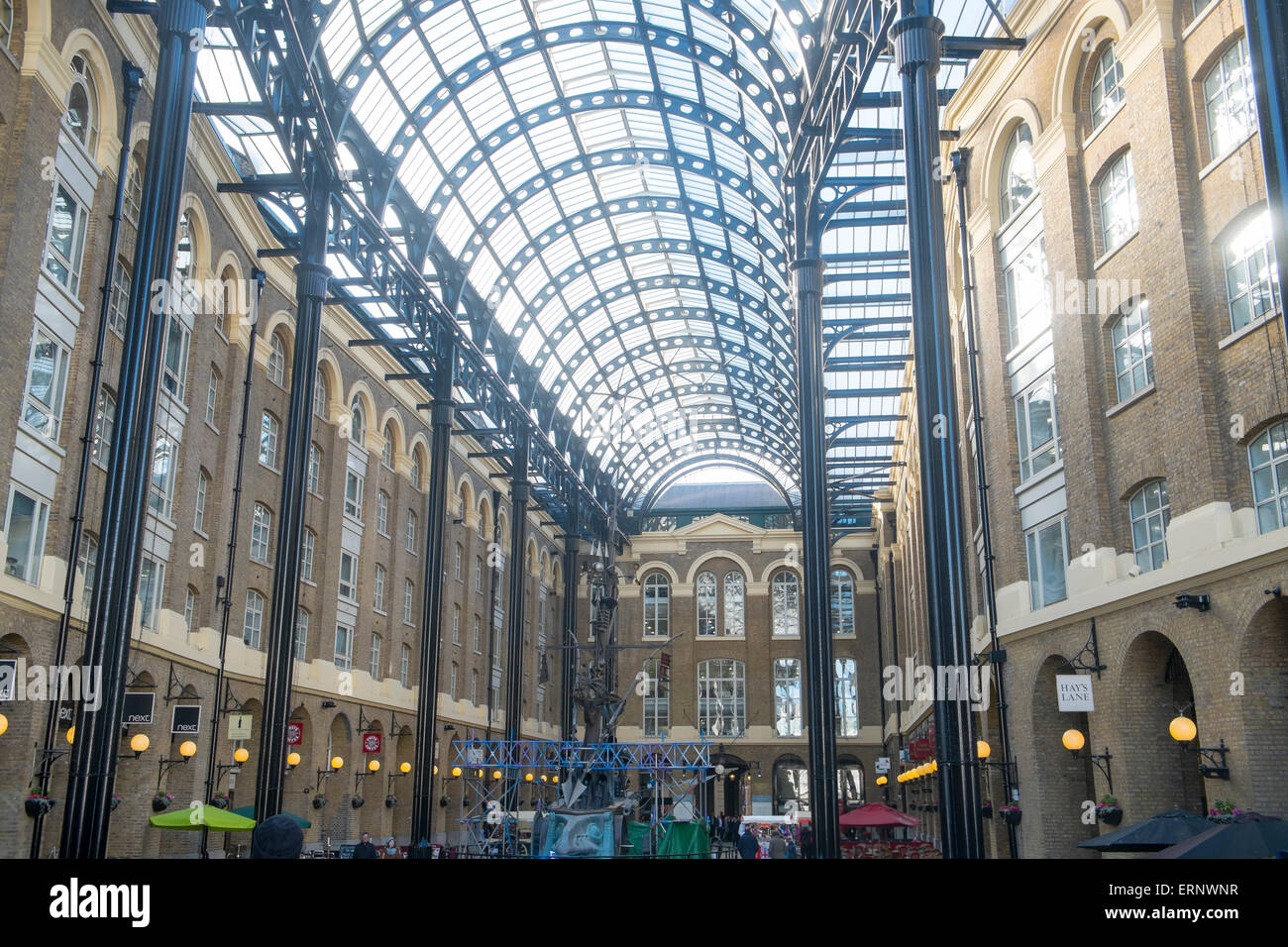 Hays Galleria Shopping Mall And Roof Structure On London South Bank,England