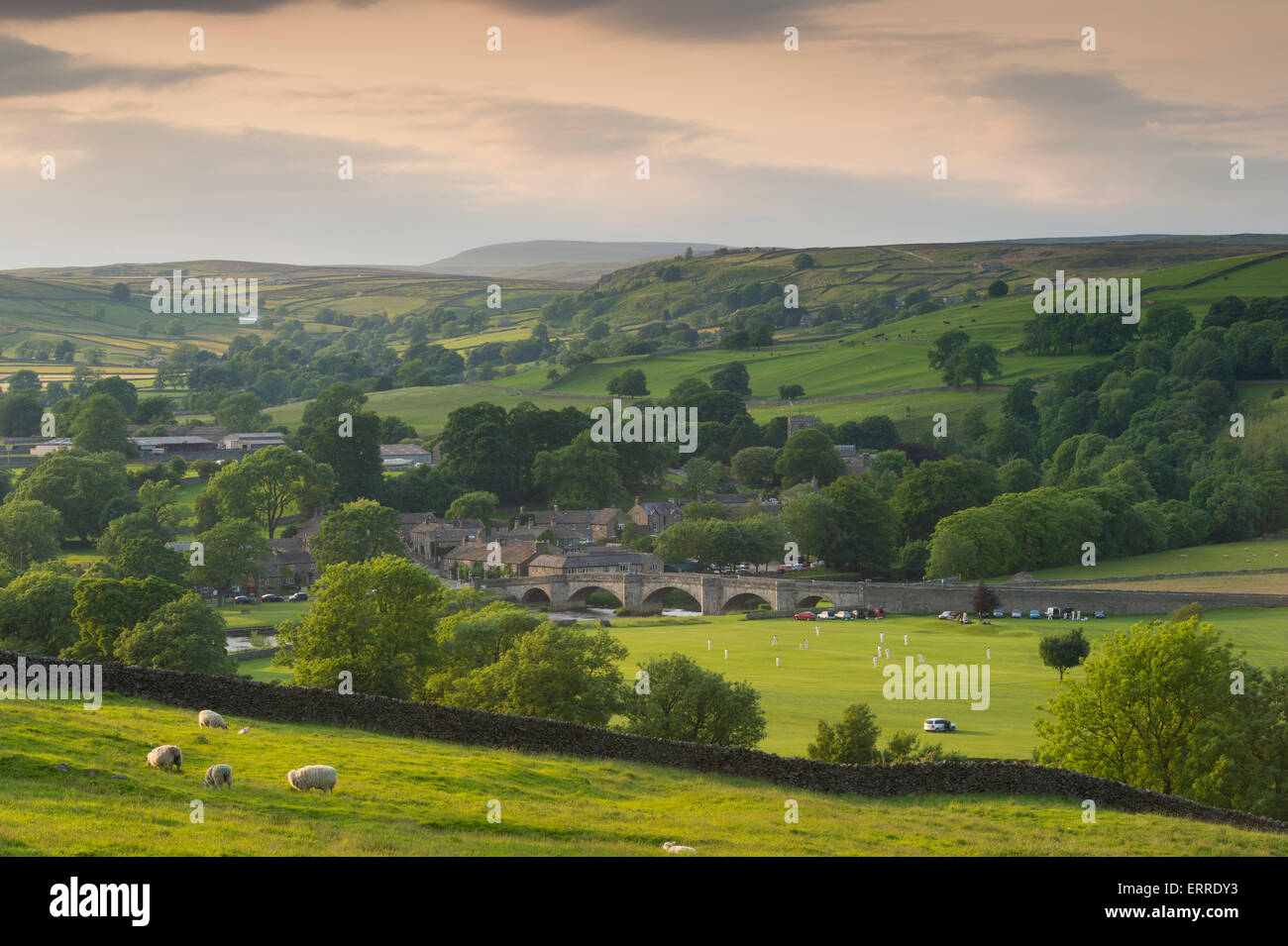 Rural Idyll Sunny Summer Evening View Of Beautiful Scenic Hilly Stock Photo Royalty Free