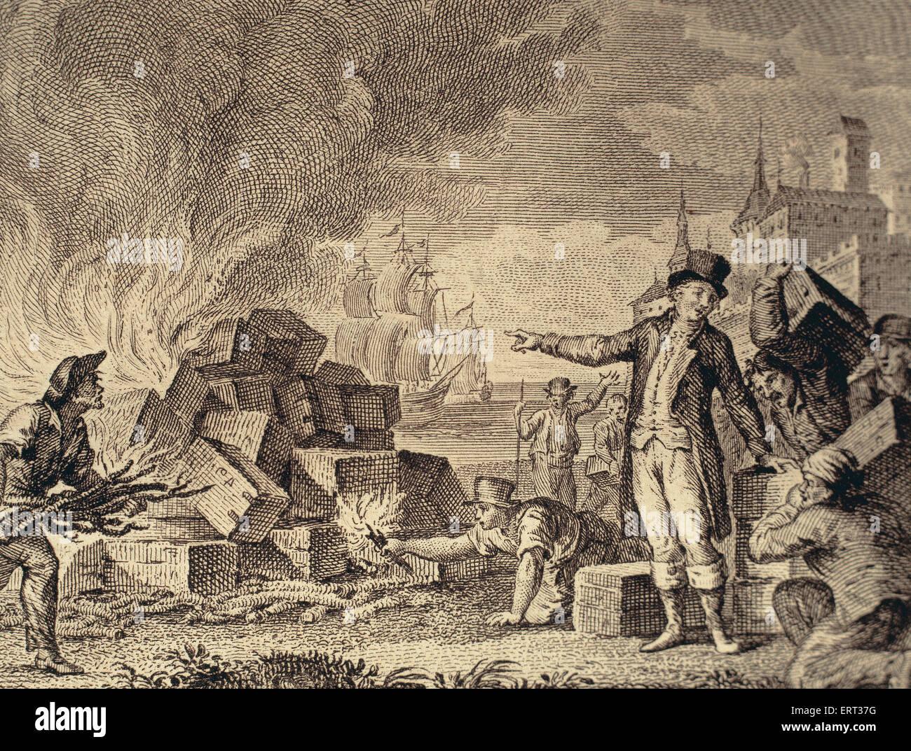 Tea Act Of 1773 Drawing