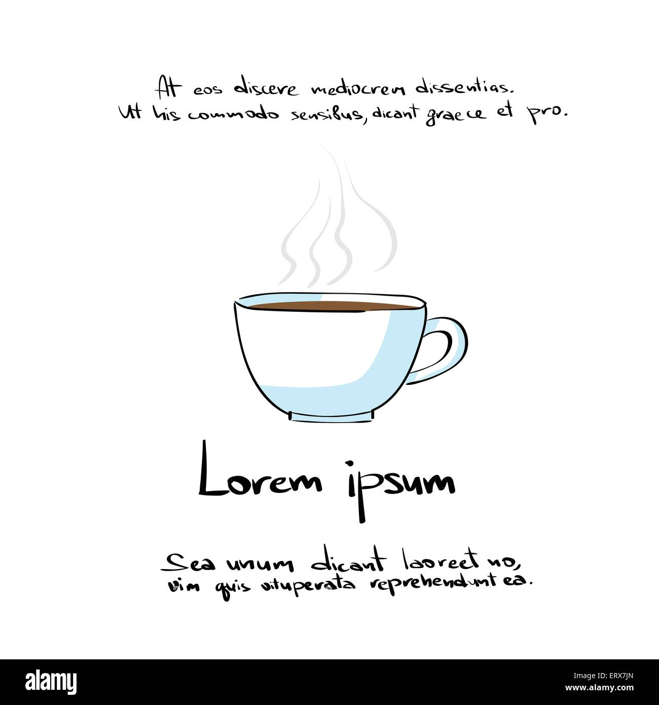 coffee cup hand draw color icon vector
