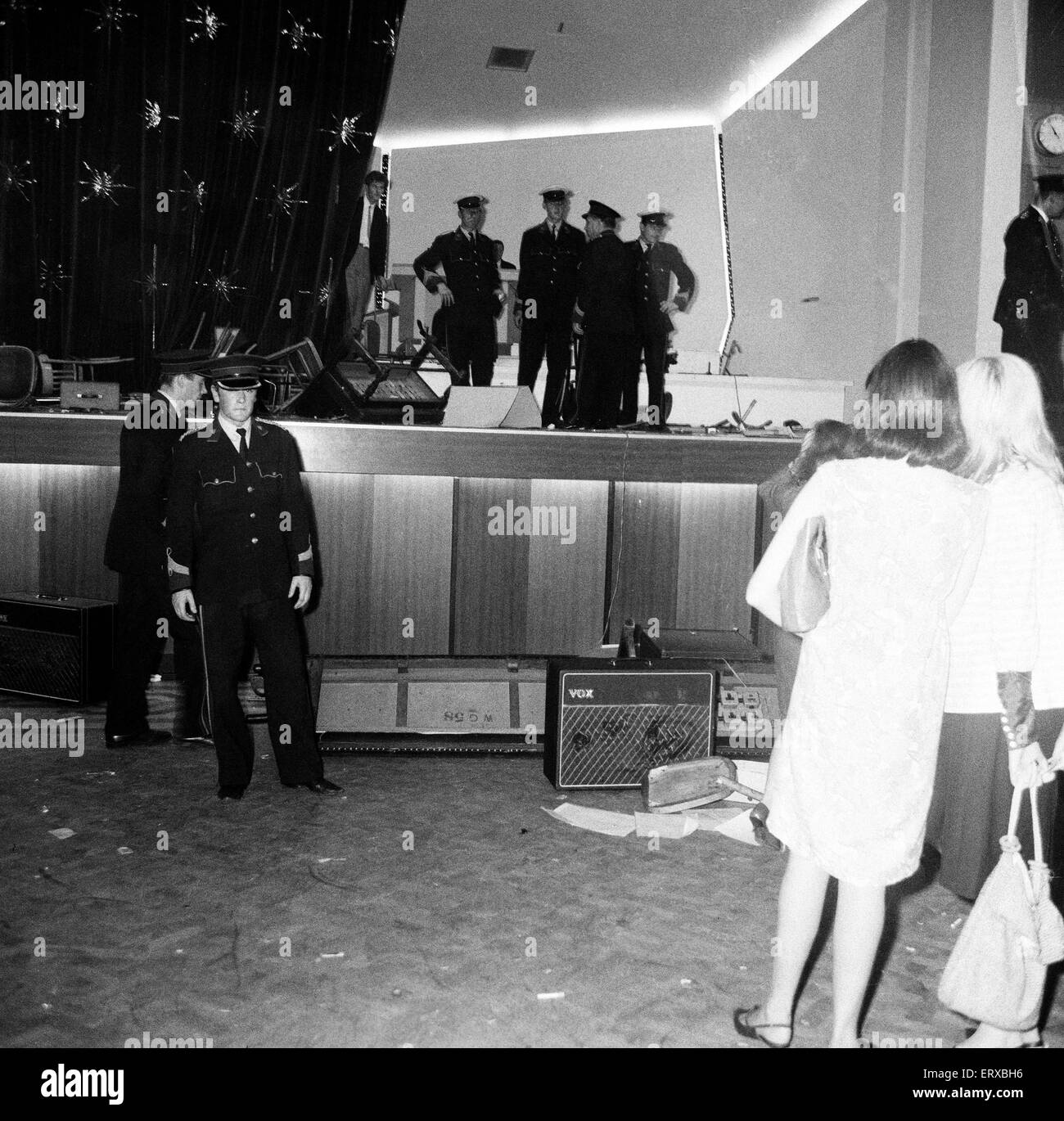 scenes at the winter gardens in blackpool after riots broke out