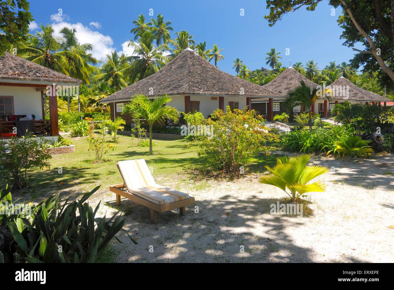 tourist resort on seychelles island la digue l union estate stock photo royalty free