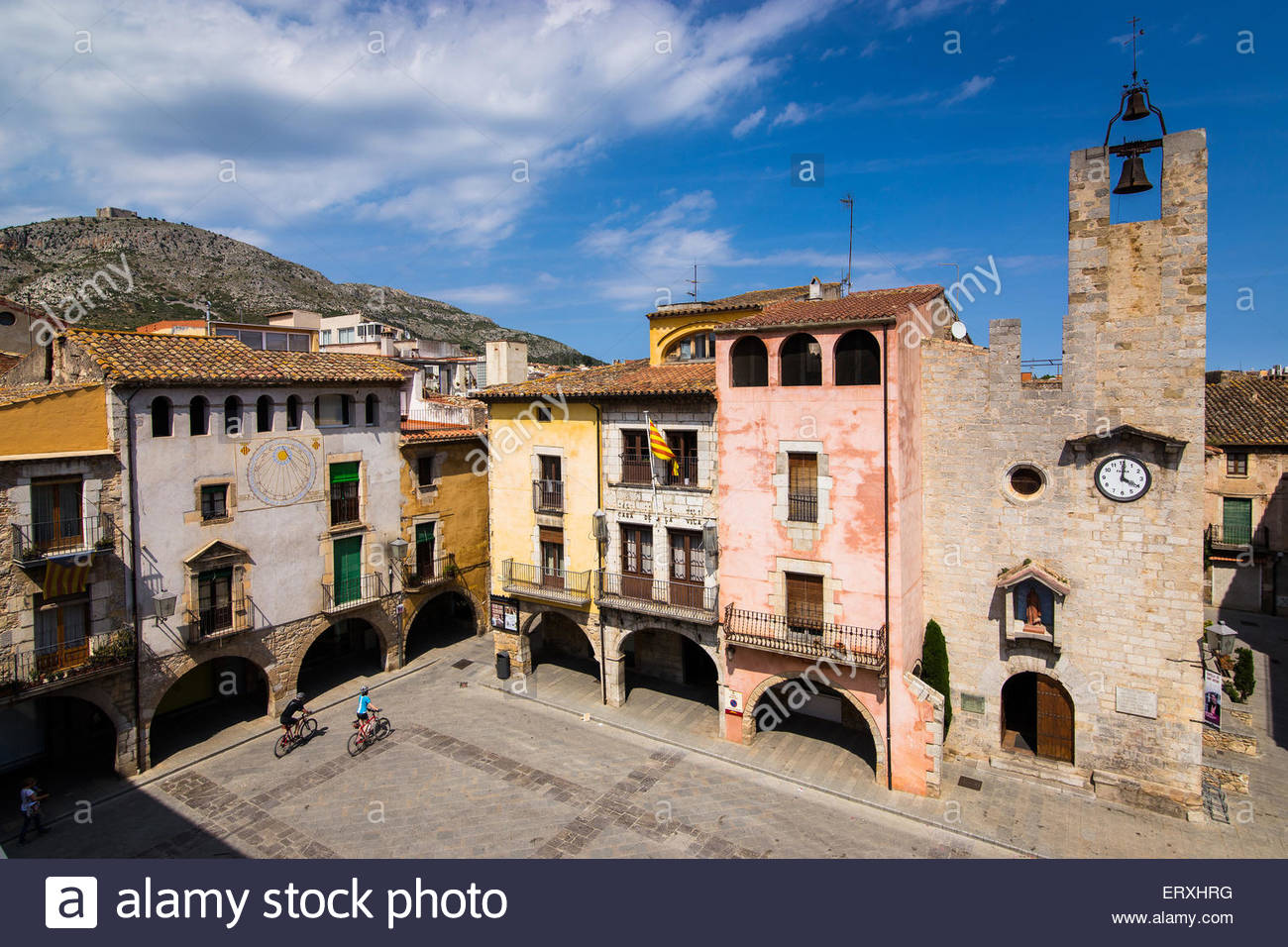 Torroella de Montgri Spain  City pictures : Spain, Catalonia, Girona, Torroella De Montgri, Town Hall Stock Photo ...