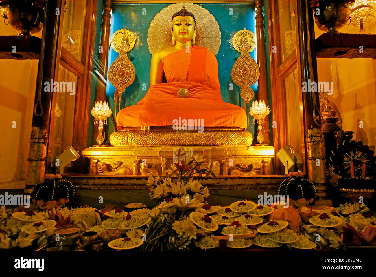 Birth Place Of Buddhism Bihar India: Statue Of Gautam Buddha ; UNESCO World Heritage Mahabodhi