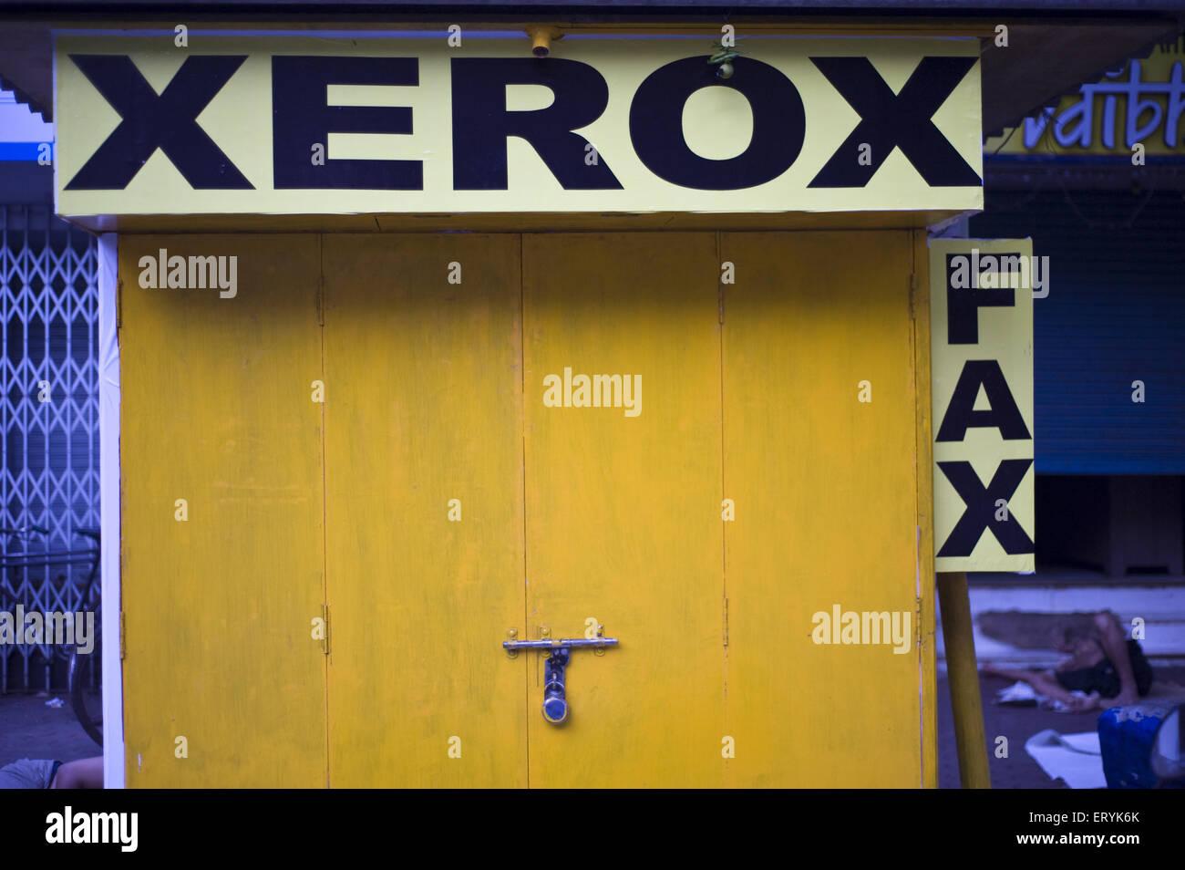 Xerox And Fax Shop In Mumbai At Maharashtra India  Stock Image